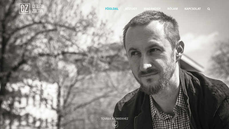 Cegledi Zoltan personal website - b32 design